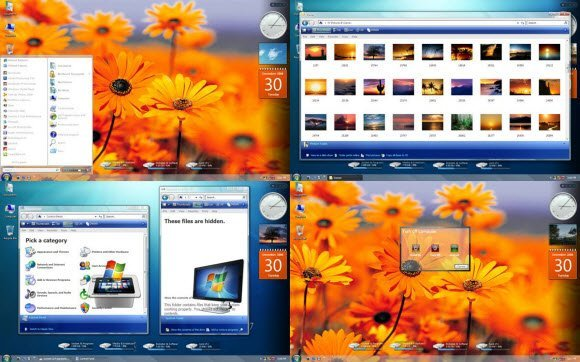 Windows 7 Clearglass Skin for Windowblinds XP