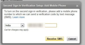 Yahoo Mobile Number Verification