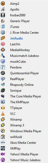 Foxy tunes players compatibility list