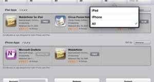 iPad Appstore Sorting feature