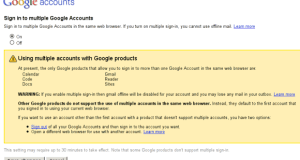sign in to multiple google accounts
