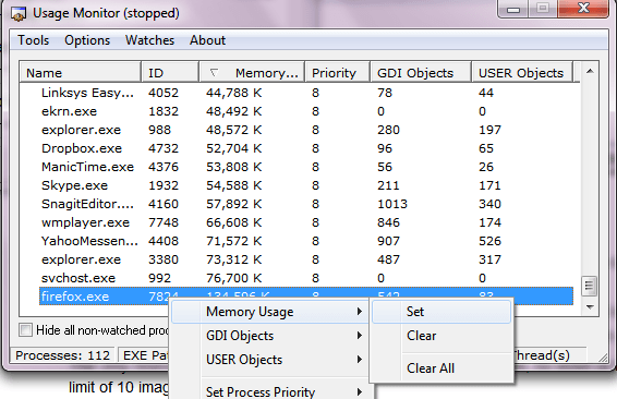 Memory Usage Alert Windows 10