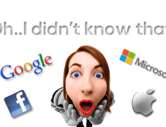 Amazing Facts About Google, Facebook, Microsoft and Apple..!!