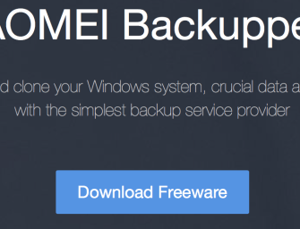 An Excellent Windows Backup Software – AOMEI Backupper