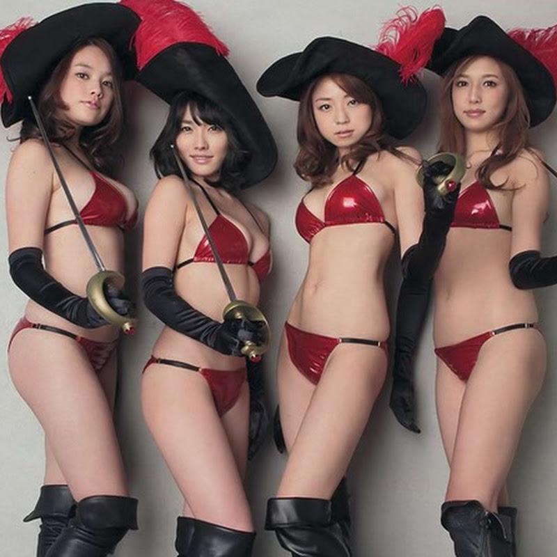 Nakamura Shizuka, Konno Anna, Kakei Miwako y Marutaka Manami en la Young Magazine (2014 No.07)