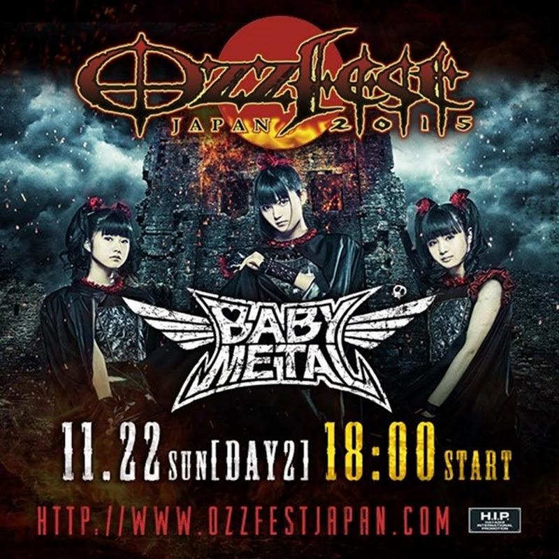 BABYMETAL en Ozzfest Japan 2015 (y algunas noticias)
