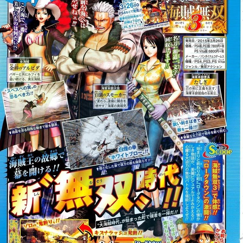 Nuevos personajes para One Piece Pirate Warriors 3