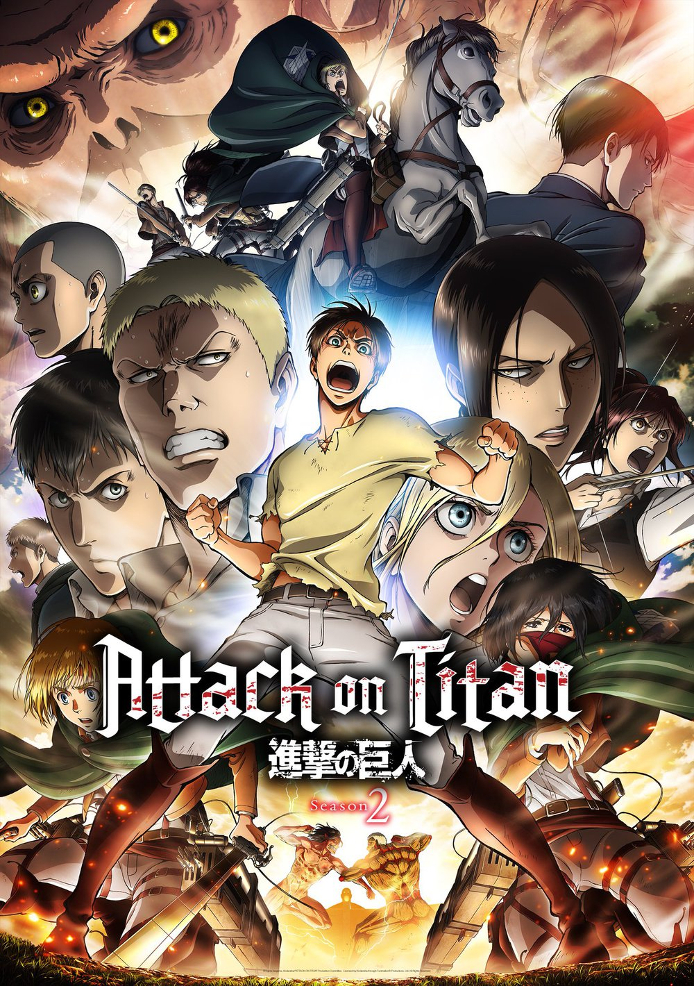 Shingeki no Kyojin 2a temporada tendrá 12 episodios