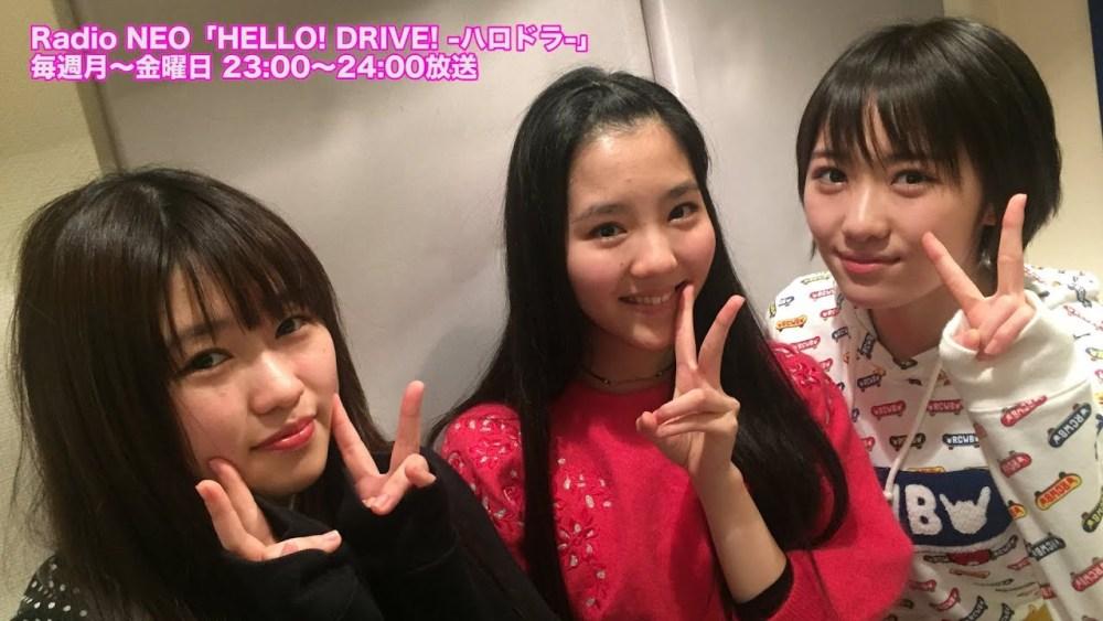 Kudo Haruka, Hirose Ayaka e Ichioka Reina en HELLO! DRIVE! 74