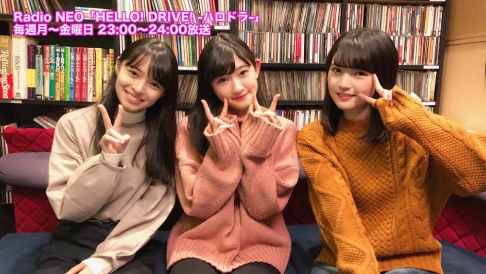 Michishige Sayumi, Kamikokuryou Moe y Kawamura Ayano en HELLO! DRIVE! 90