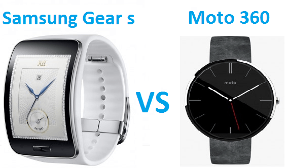 samsung gear s vs moto 360 smart watches comparison