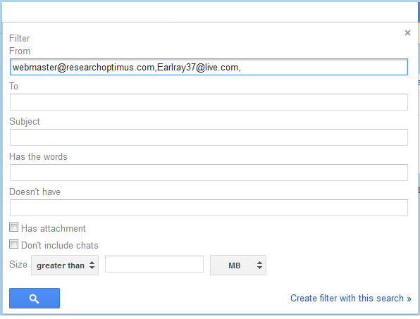 create a filter in gmail