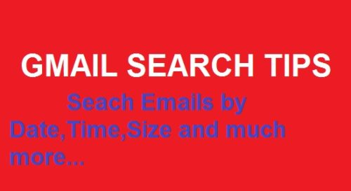 gmail search tips to search emails by date size and time