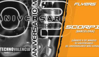 flyers_scorpia_-_sabado_9_marzo_3_aniversario_-_el_aniversario_mas_sonado
