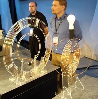 demonstração da tecnologia de transmissão de energia sem fio da Intel