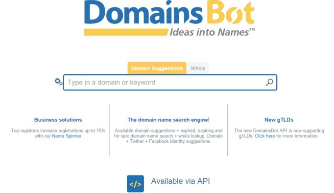 domainbot Tools for Picking the Perfect Domain Name