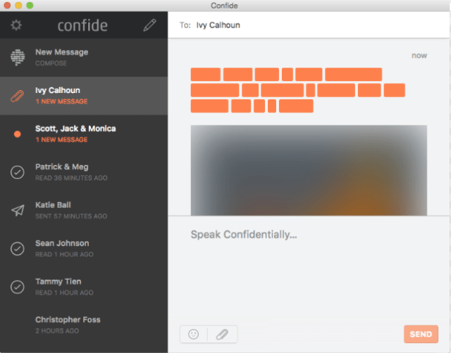 confide chat app security