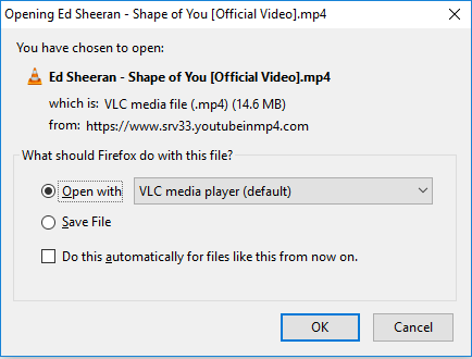 download a video in MP4