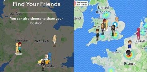 snapchat map 1
