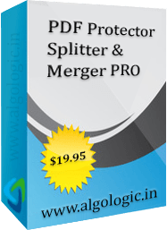 AlgoLogic PDF Protector, Splitter and Merger Pro Discount