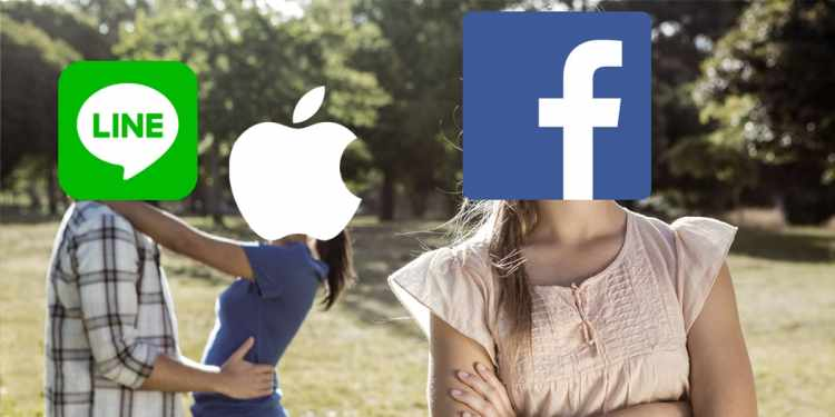 LINE facebook apple_ID