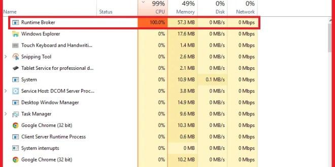Fix Runtime Broker (RuntimeBroker exe) Problem In Windows 10