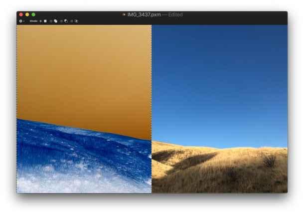 Invert image on Mac with Pixelmator keystroke