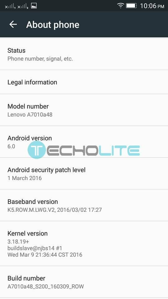 lenovo k4 note about phone marshmallow