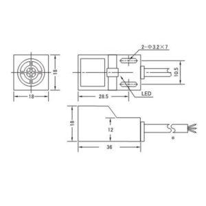 SN04-N (Inductive Proximity Sensor, NPN, wires NO, 6-36V