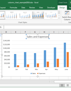 Congratulations you have finished creating your first column chart in excel also ms how to create  rh techonthenet
