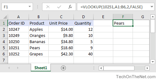 MS Excel: How to use the VLOOKUP Function (WS)