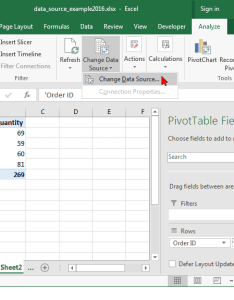 Microsoft excel when the change pivottable also ms how to data source for  pivot table rh techonthenet