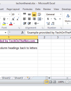 To change the column headings letters select file tab in toolbar at top of screen and then click on options bottom menu also ms excel how from numbers rh techonthenet