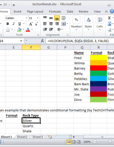 To do this select the range of cells that you wish apply conditional formatting in example we  ve selected   also ms excel change fill color  cell based on value rh techonthenet