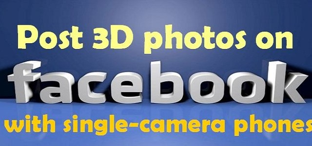 Post 3D photos with New Feature Available on Facebook