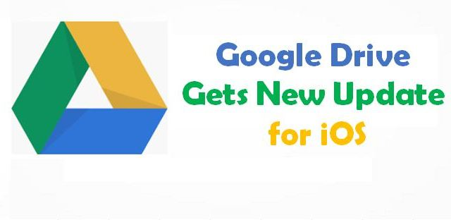 Google Drive Gets New Update for iOS
