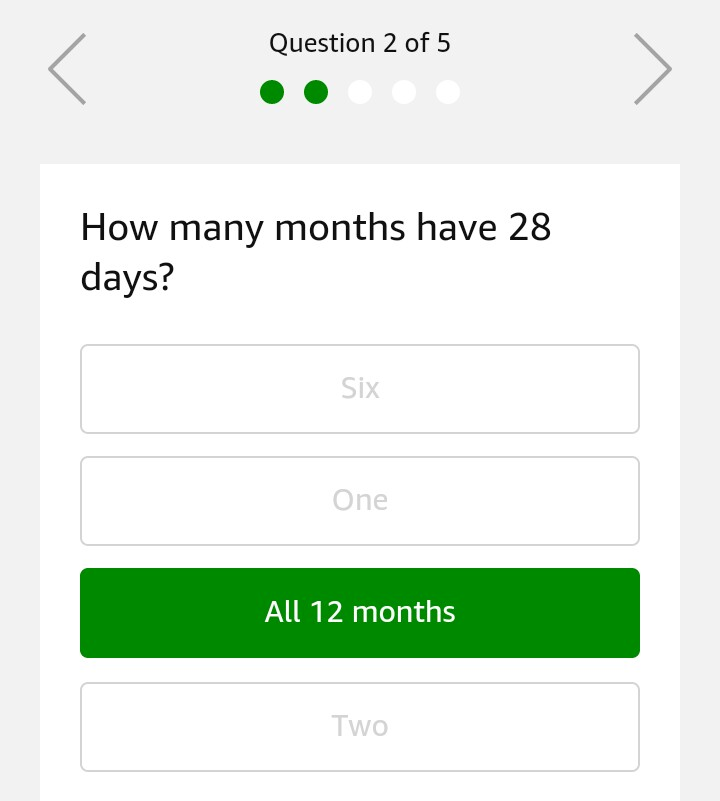 answer of amazon riddles contest