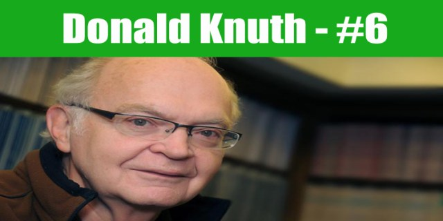 image: Donald Knuth top programmer in the world