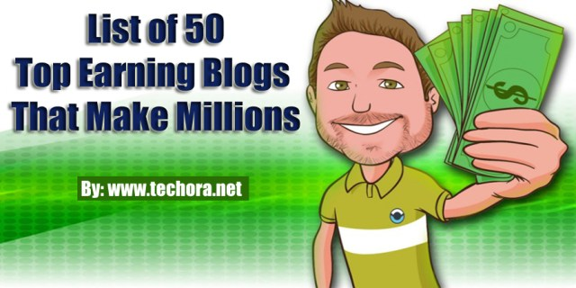 image of 50 top earning blog that make money from their blogs