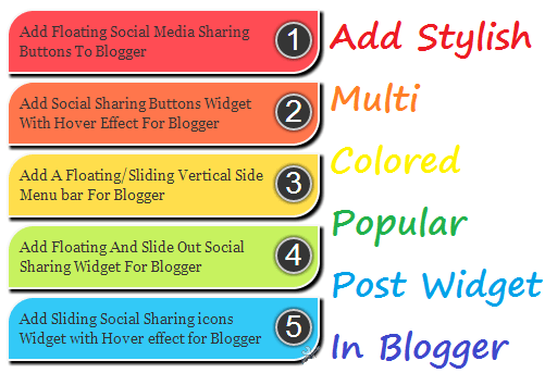 How To Add Popular Post Multi-Colored Widget To Blogspot Blogs
