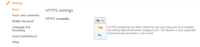 How We Add HTTPS Supports To Our Blogger Blogs