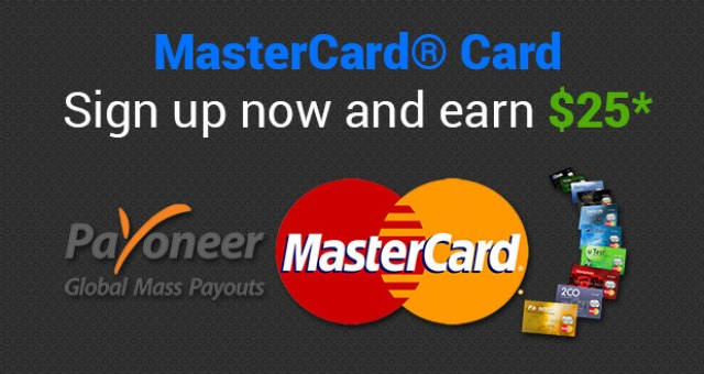 Click To Sign Up Payoneer Master Card and Earn 25$ Dollars