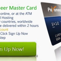 How To Get Free Payoneer Prepaid Master Card Account (Free $25 Bonus)