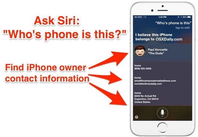 How To Track Right Owner of a Lost iPhone Using Siri Ability feature