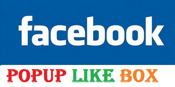 How To Add Popup Facebook Like Box in Blogger