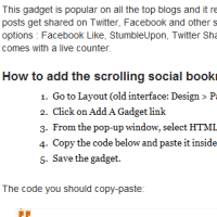 How To Add Floating Social Media Sharing Buttons in Blogger