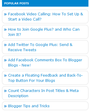 How To Add Feedburner Recent Posts Widget To Your Blog