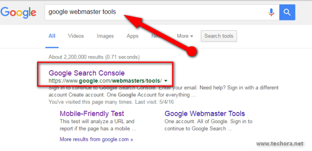 Submit Site URL To Google & Index Quickly google webmaster tools