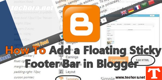 How To Add a Floating Sticky Footer Bar in Blogger Blog