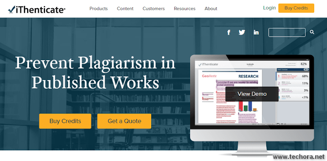 iThenticate free online plagiarism checker tools